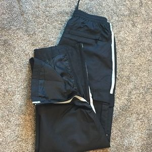 BCG Black Athletic/Jogger/Track Lined Pants
